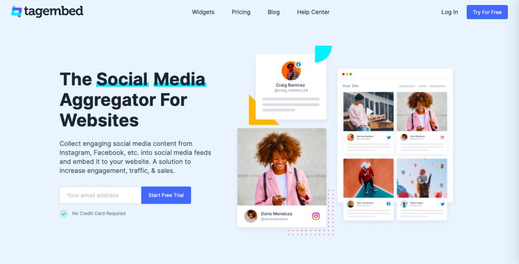tagembed - best social media aggregator tool