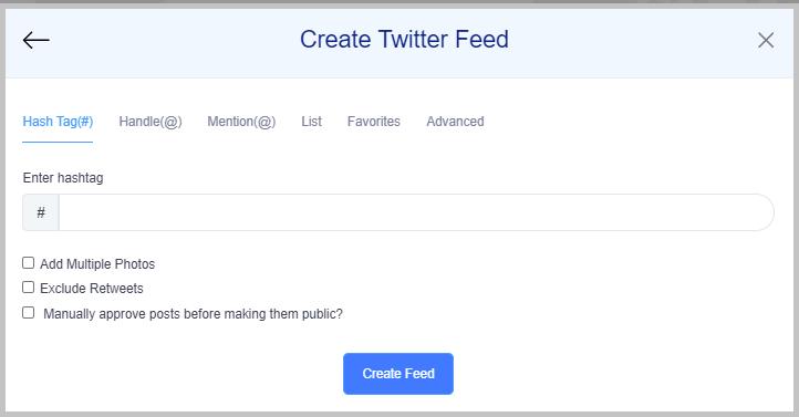 create social media feeds tagembed