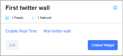 twitter wall tagembed