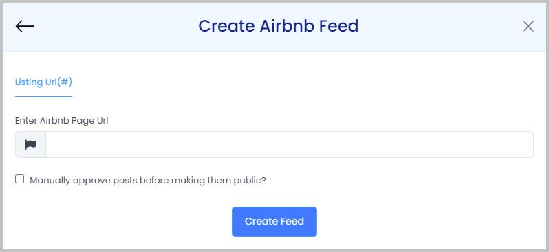 create airbnb feed