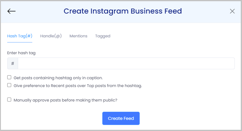 create instagram feeds on website