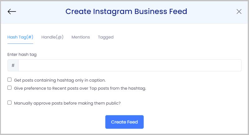 create instagram feeds on website