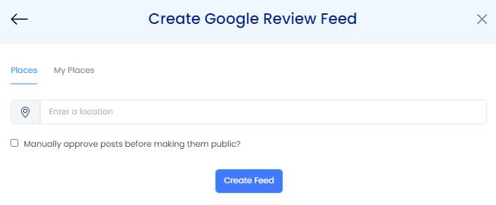 create google review feed