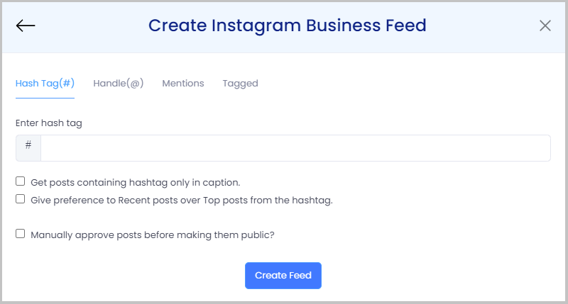 Create instagram feed on shopify store