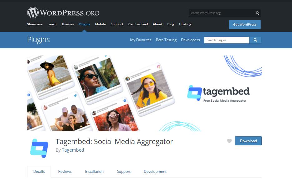 Tagembed_ Social Media Aggregator – WordPress plugin