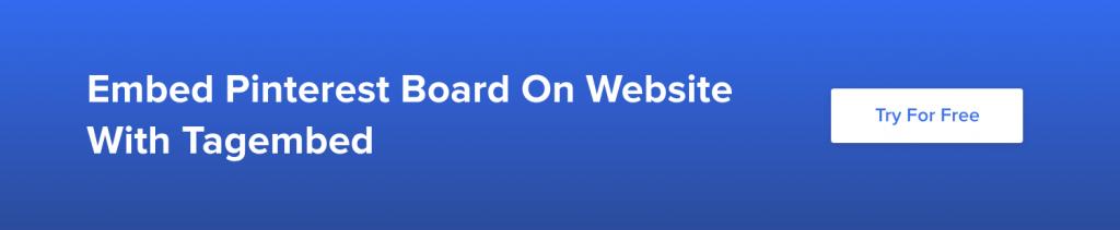 Embed Pinterest Board