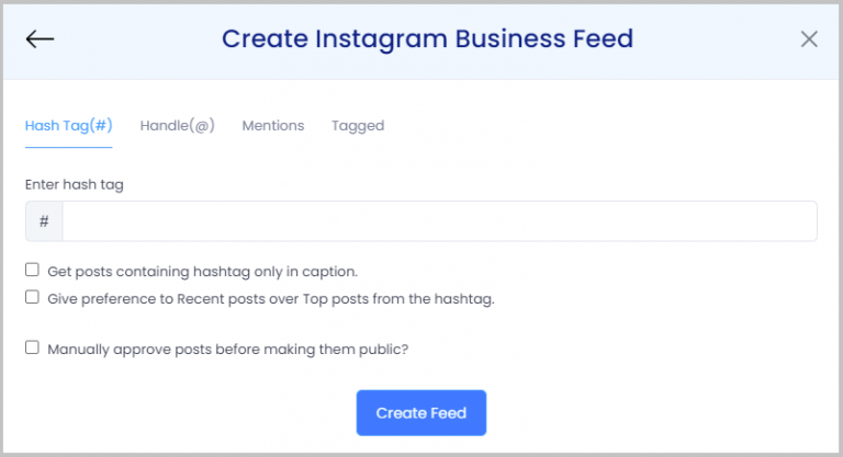 Create Instagram feed