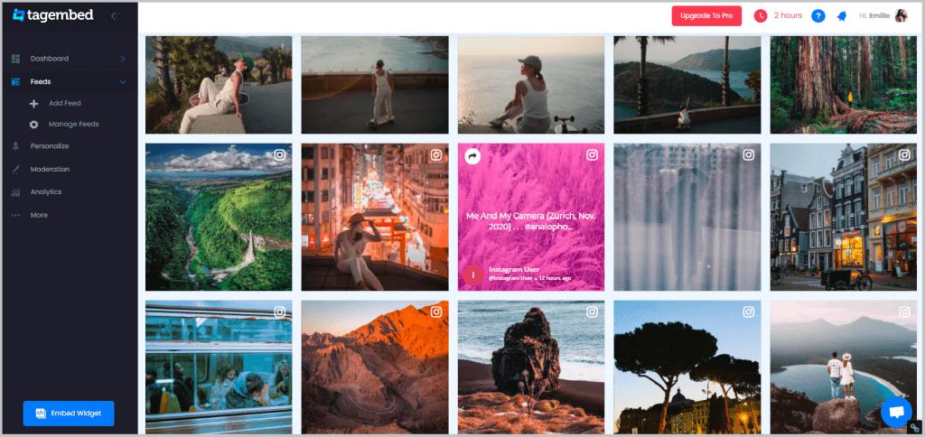Embed Instagram Feeds