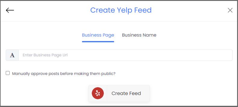 Create Yelp Feeds