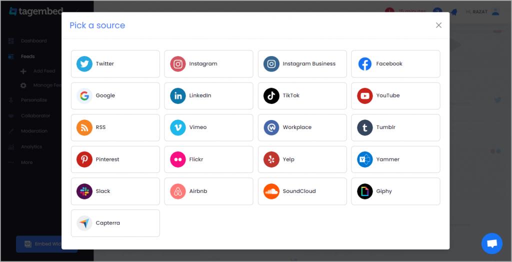 Choose Social Media Platform