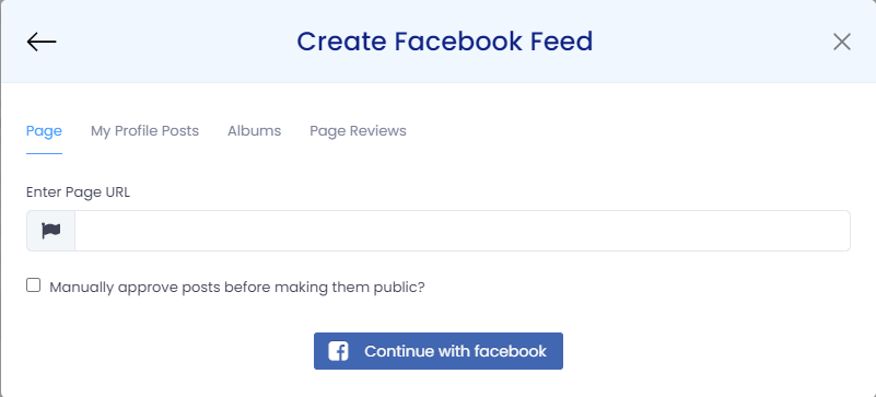 embed facebook feed on shopify