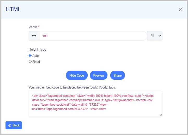 embed facebook feeds on HTML website