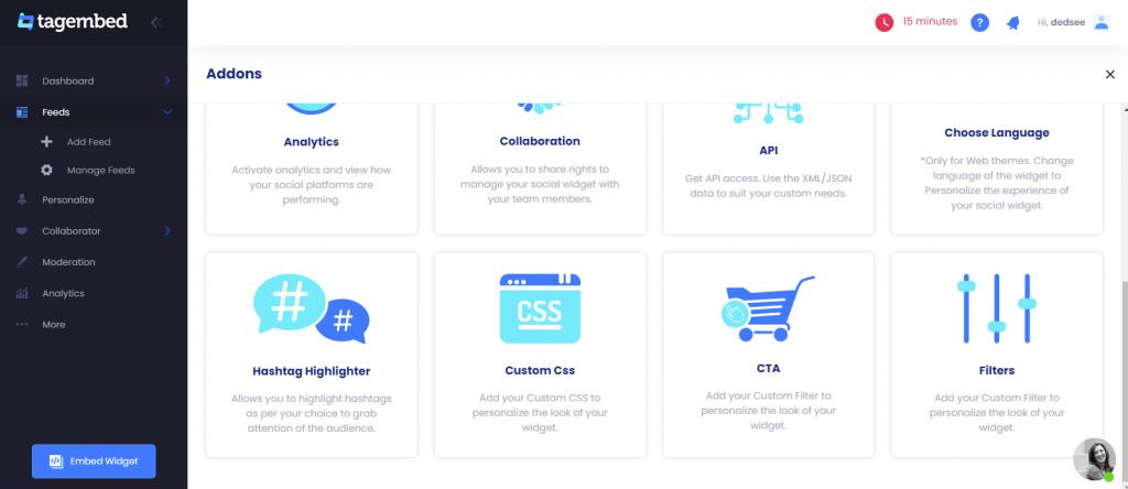add custom css in social feed