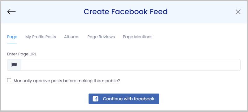 create facebook feeds on website