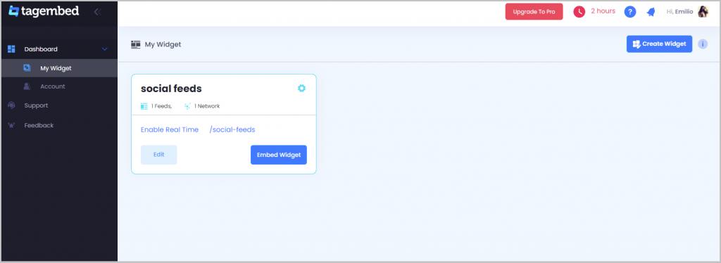 embed social feed on webflow