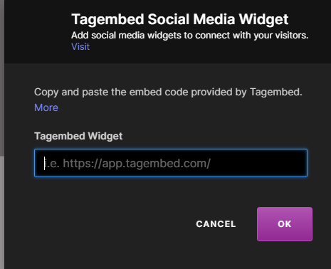 Add Tumblr Feeds on pagecloud website