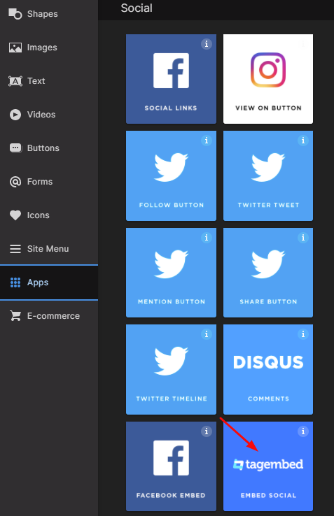 Add Tumblr Feeds on pagecloud