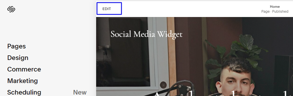add facebook feed on squarespace