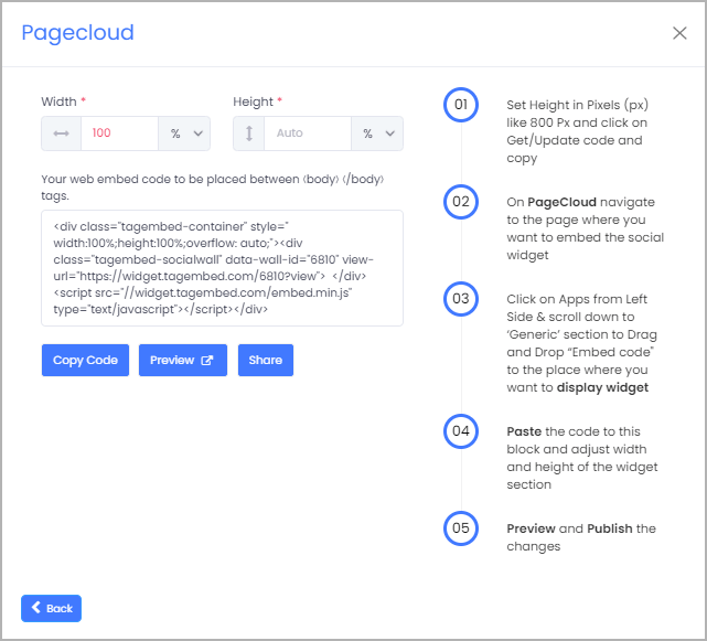 Add Facebook Reviews on Pagecloud