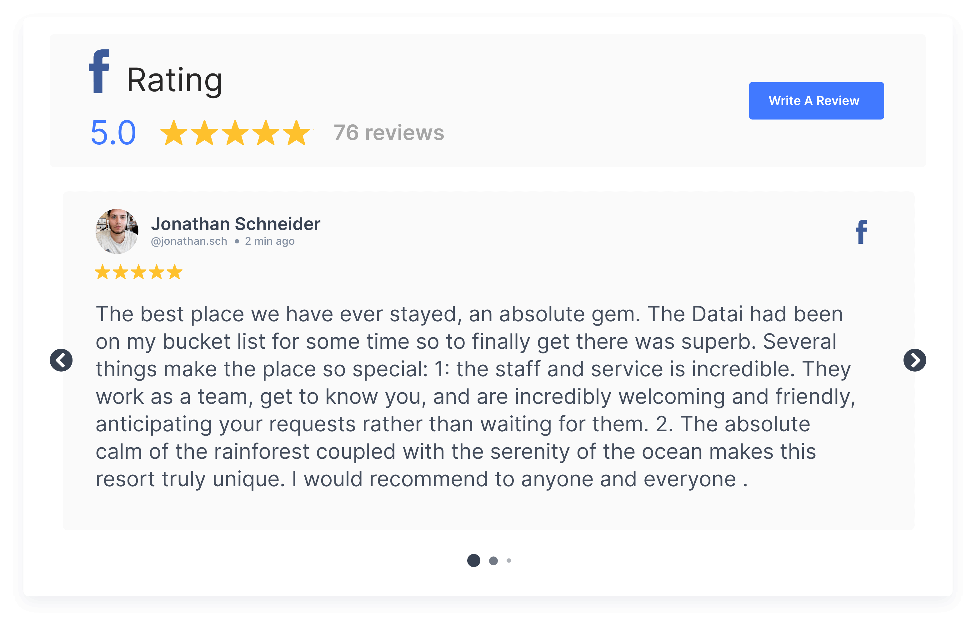 customize facebook reviews tagembed