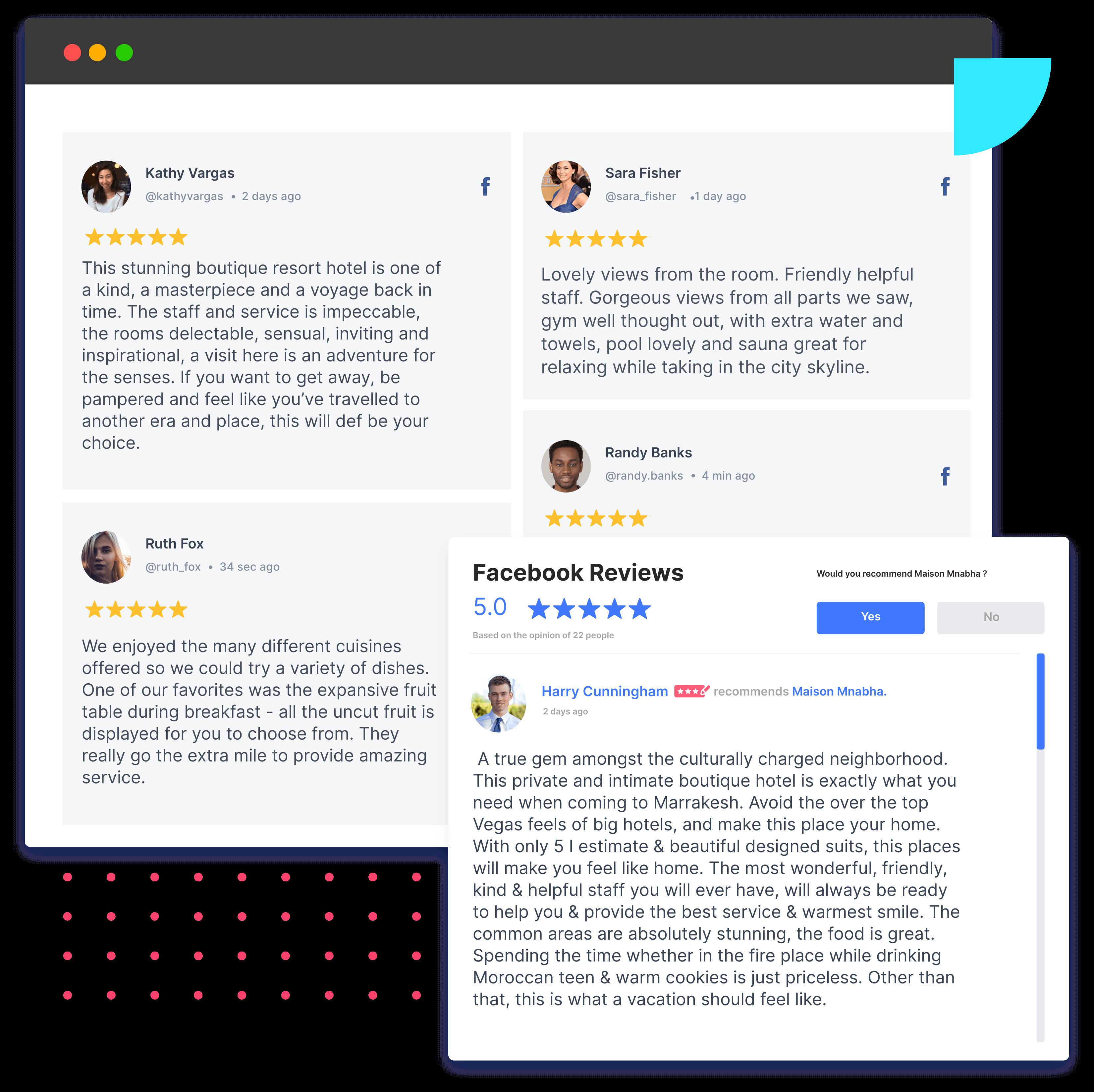 facebook review widget banner
