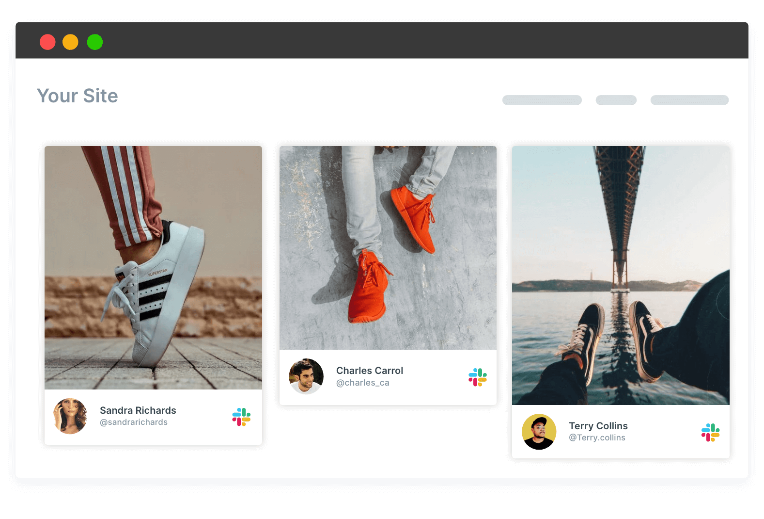 customize slack widget for website