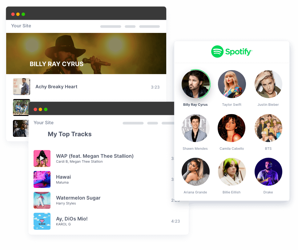 Collect spotify feeds at one place