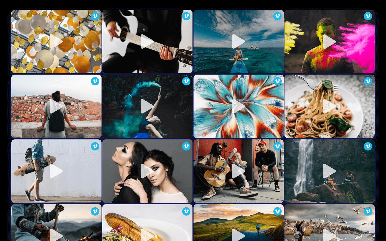 creative vimeo page widgets
