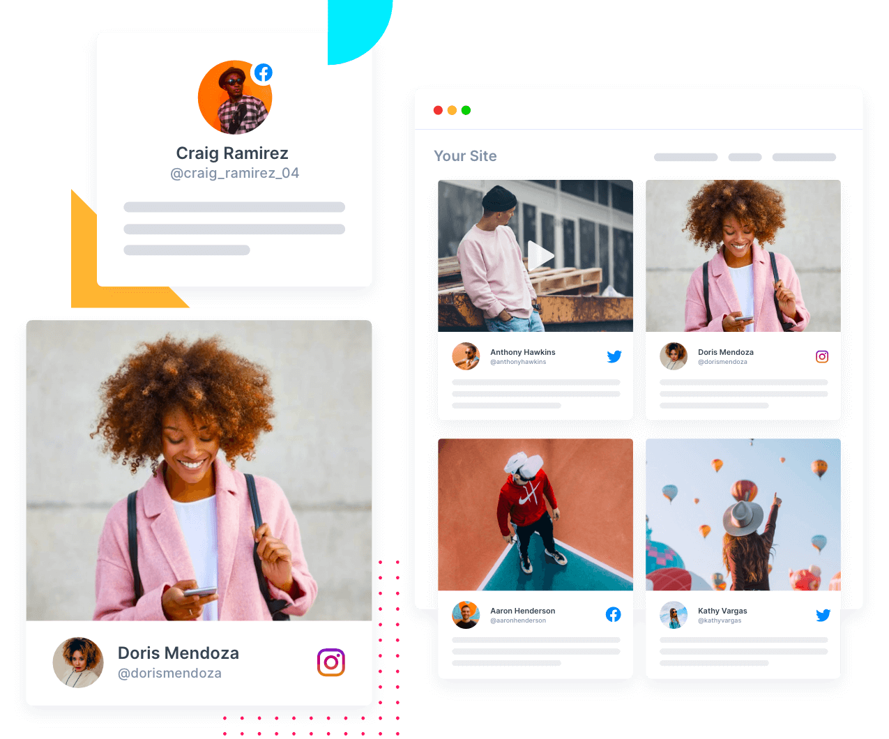 social media aggregator, Tagembed