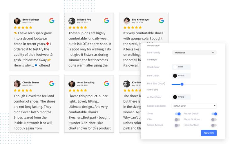 features-of-google-reviews-widget-plugin
